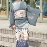 横浜の建物を描いた着物で撮影会