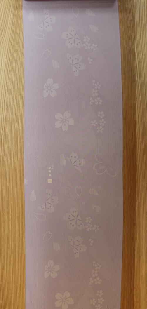 薄紫の桜柄の江戸小紋