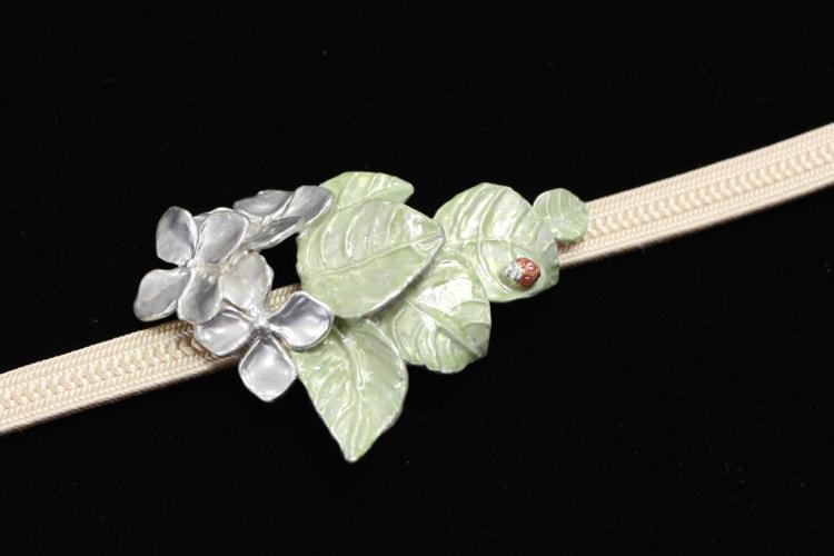 帯留め プランタ(紫陽花)