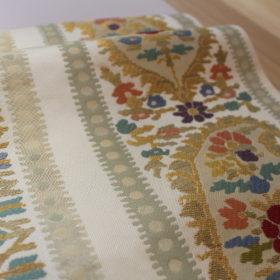 捨松の袋帯 カシミヤ紋