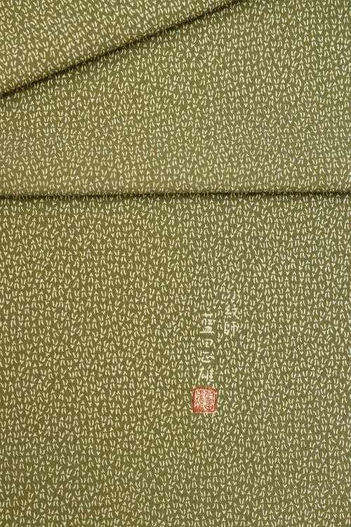 藍田正雄の松葉の柄の江戸小紋