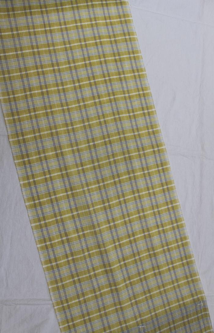 アイスコットンの黄色い着尺