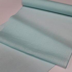 水色の麻の平織りの長襦袢