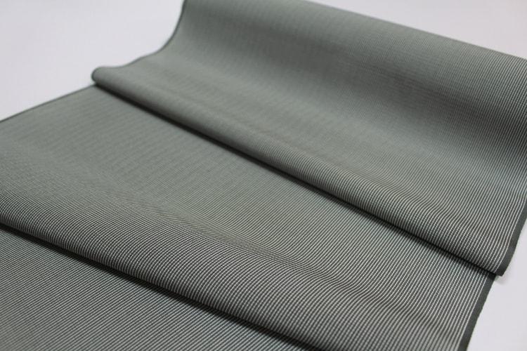 深緑の絽の江戸小紋