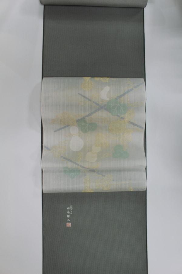 絽の江戸小紋と捨松の夏帯の帯合わせ